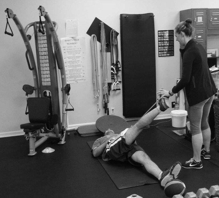 One-on-one personal training photoBW
