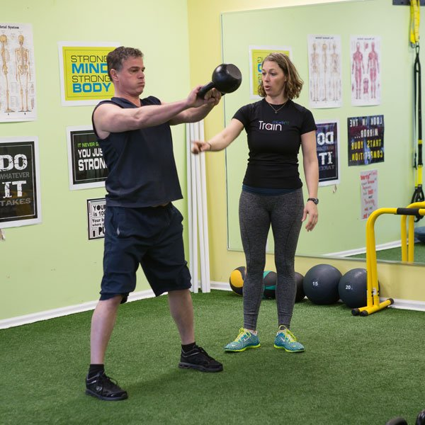 Photo of 1-on-1 kettlebell training with Seana